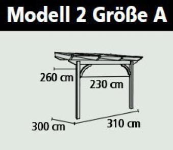 Terrassenüberdachung Karibu Modell 2 A rund Douglasie 310x300cm Bild 2