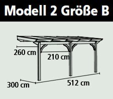 Terrassenüberdachung Karibu Modell 2 B gerade Douglasie 512x300cm Bild 2