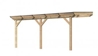 Terrassenüberdachung Karibu Modell 2 B gerade Douglasie 512x300cm Bild 1