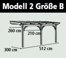Terrassenüberdachung Karibu Modell 2 B rund Douglasie 512x300cm Bild 2