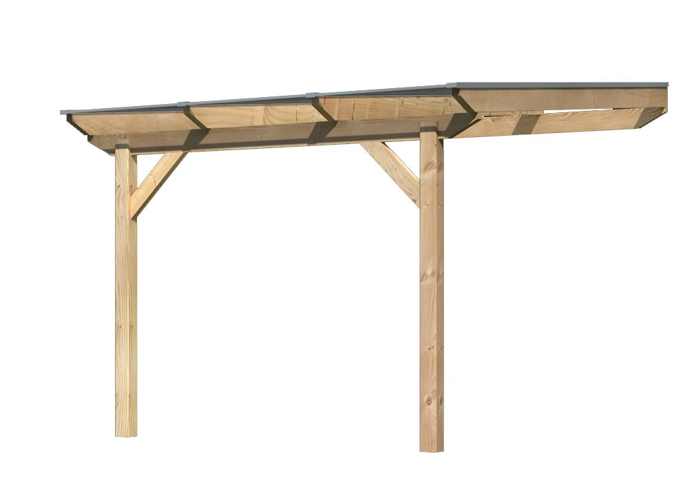 Terrassenüberdachung Karibu Modell 3 A gerade Douglasie 310x350cm Bild 1
