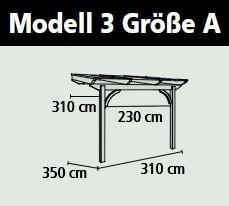 Terrassenüberdachung Karibu Modell 3 A gerade Douglasie 310x350cm Bild 2
