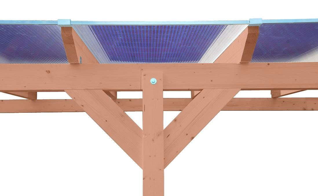 Terrassenüberdachung Karibu Modell 3 B gerade Douglasie 512x350cm Bild 3