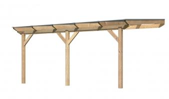Terrassenüberdachung Karibu Modell 3 B gerade Douglasie 512x350cm Bild 1