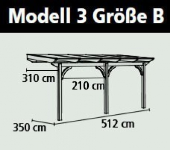 Terrassenüberdachung Karibu Modell 3 B rund Douglasie 512x350cm Bild 2