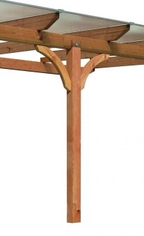 Terrassenüberdachung Karibu Modell 3 B rund Douglasie 512x350cm Bild 3