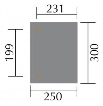 Terrassenüberdachung Weka 671 Größe 1 kdi 300x250cm Bild 2