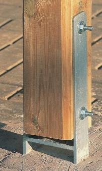 H-Anker-Set 2-teilig 9x9 Weka für Terrassenüberdachung Gr. 1