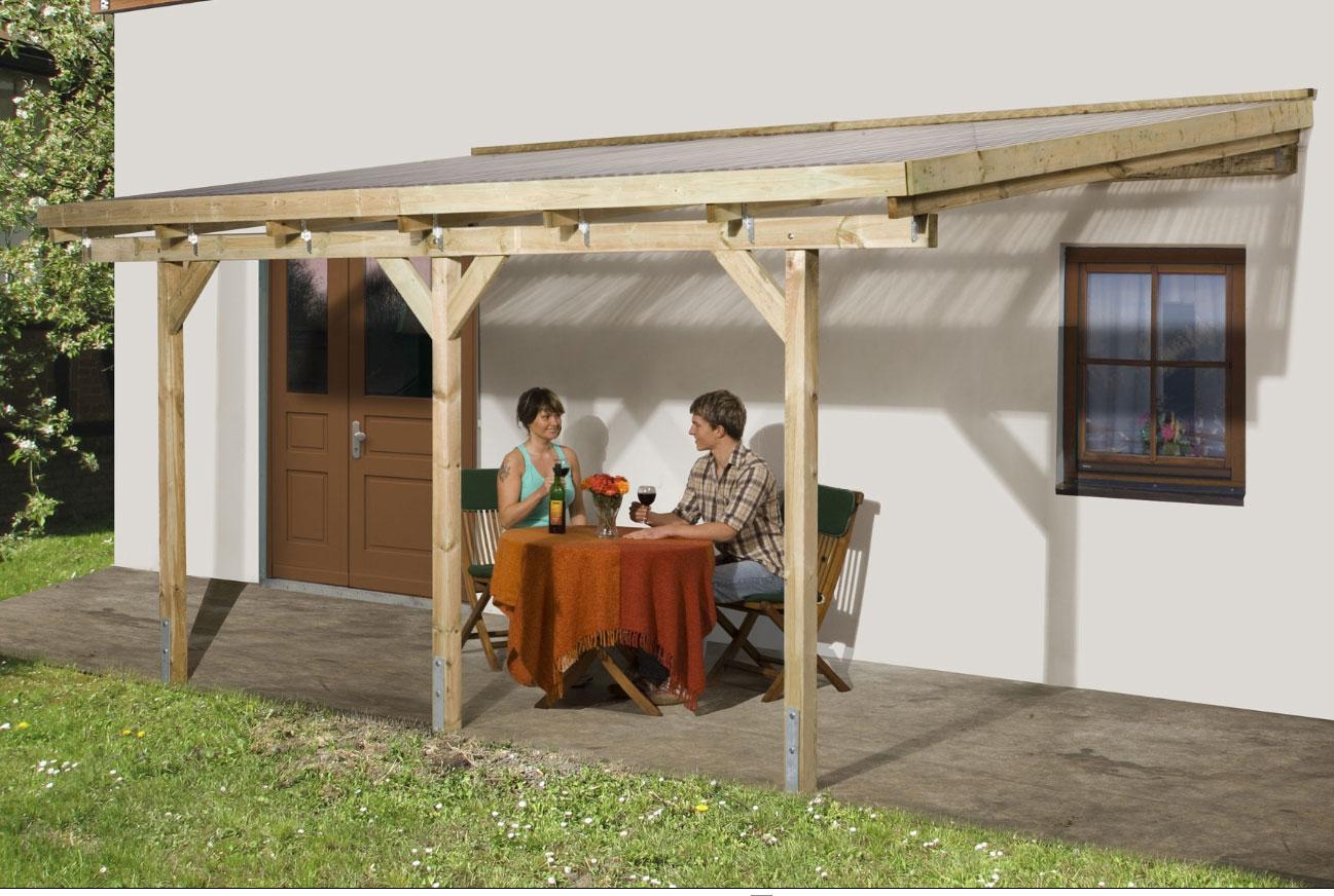 Dachrinnen Set RG70 202Bx Pultdach bis 4,50m PVC Halter Kasten braun