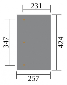 Terrassenüberdachung Weka 671 Größe 2 kdi 424x257cm Bild 2