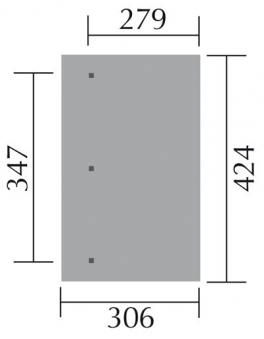 Terrassenüberdachung Weka 671 Gr.3 Anlehn-Carport Gr.1 kdi 424x306cm Bild 2