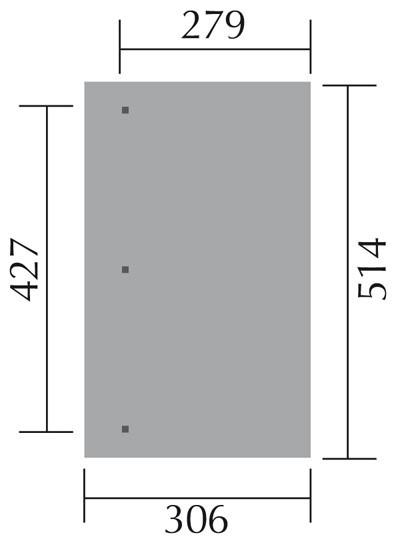 Terrassenüberdachung Weka 671 Gr.4 / Anlehncarport Gr. 2 kdi 514x306cm Bild 2