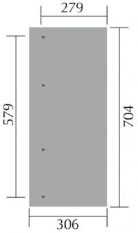 Terrassenüberdachung Weka 671 Gr.5 / Anlehn-Carport Gr3 kdi 704x306cm Bild 2
