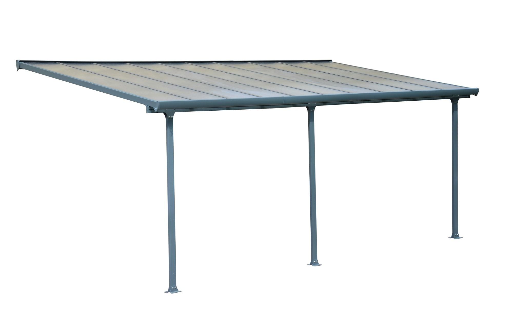 terrassen berdachung carport alu grau. Black Bedroom Furniture Sets. Home Design Ideas
