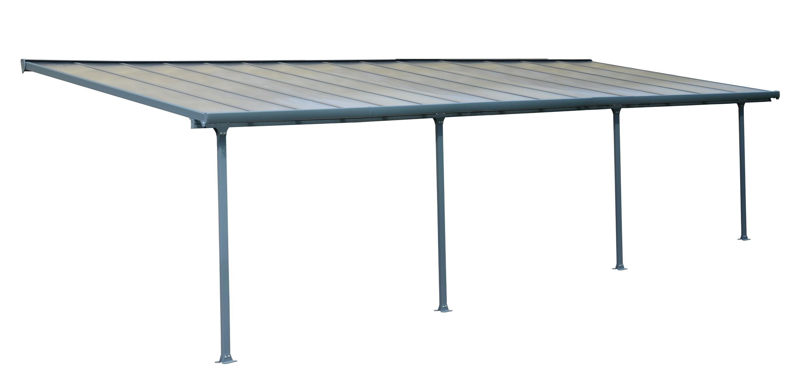 terrassen berdachung carport alu grau hohlkammerplatten 851x295cm bei. Black Bedroom Furniture Sets. Home Design Ideas