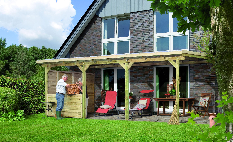 terrassen berdachung karibu eco modell 2 c kdi 622x303cm bei. Black Bedroom Furniture Sets. Home Design Ideas