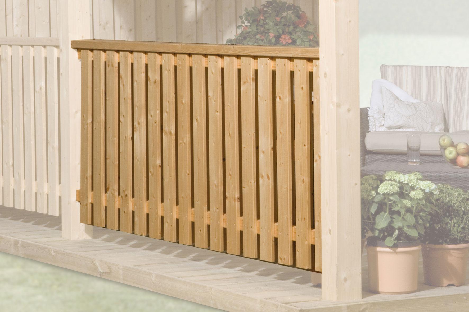 br stungsgel nder f r weka terrassen berdachung aus leimholz bei. Black Bedroom Furniture Sets. Home Design Ideas