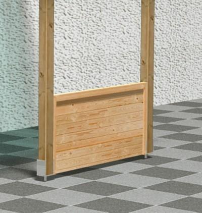 Front halbhoch Karibu für Terrassenüberdachung Eco kdi Bild 1