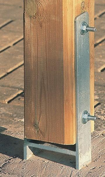 H-Anker-Set 2-teilig 9x9 Weka für Terrassenüberdachung Gr. 1 Bild 1