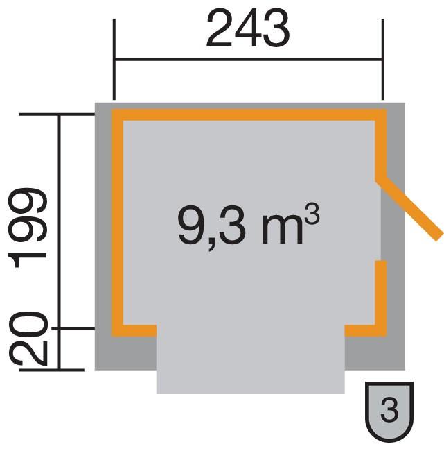 Verkaufsstand / Marktstand Weka Verkaufshaus 221 natur 19mm 283x240cm Bild 2
