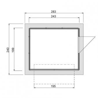 Verkaufsstand / Marktstand Weka Verkaufshaus 221 natur 19mm 283x240cm Bild 4