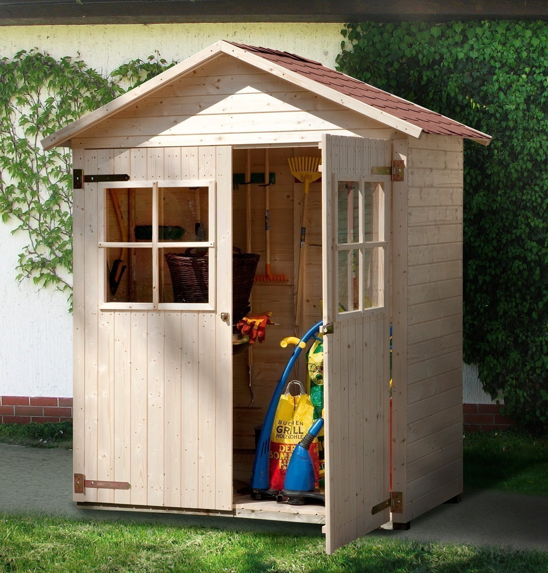Gartenhaus 24 Qm Selber Bauen Gartenhaus Hersteller 24 De: Gartenschrank / Geräteschrank 14mm Weka Gr2 Satteldach