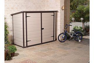 Fahrradgarage aus metall und pvc online kaufen for Coffre rangement exterieur brico depot