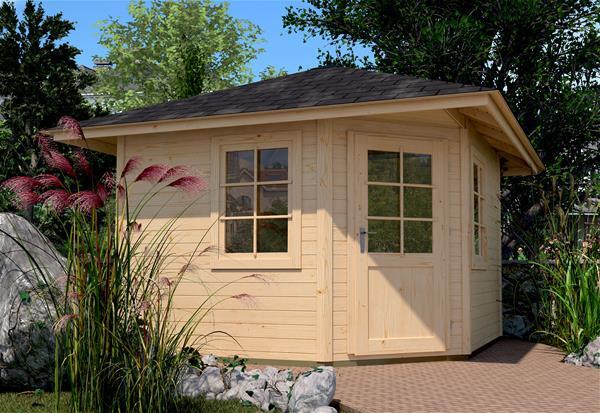 garten gartenhaus 5 eck haus preisvergleiche. Black Bedroom Furniture Sets. Home Design Ideas