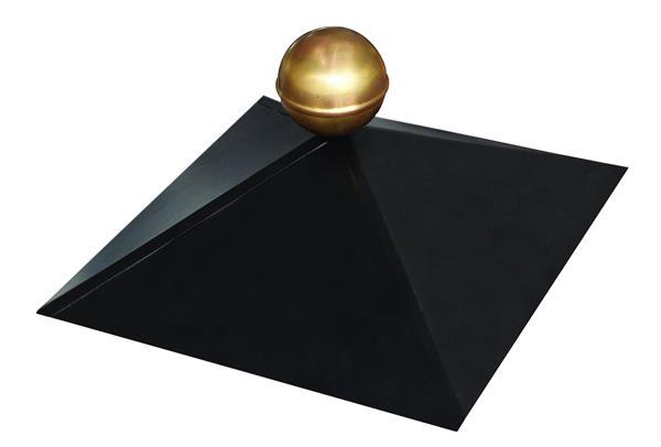 Pavillon Haube schwarz mit Kugel für Karibu 6-Eck Pavillon