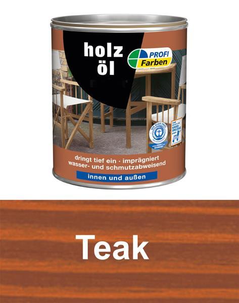 Holzöl / PROFI Farben Acryl Holzöl teak 2,5L 867094