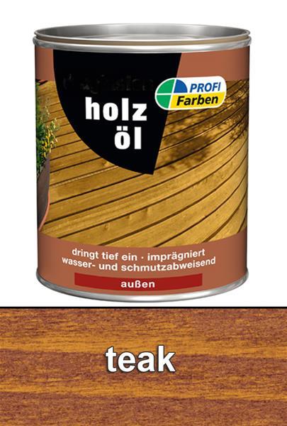 Holzöl / PROFI Farben Holzöl Lasur Teak 2,5 L 867095