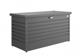 gartenbox auflagenbox biohort freizeitbox 130 dunkelgrau metallic bei. Black Bedroom Furniture Sets. Home Design Ideas