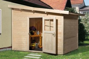 weka anbauhaus 28mm typ 260 natur 355x277cm bei. Black Bedroom Furniture Sets. Home Design Ideas