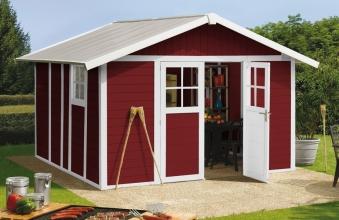 energieverbrauch und baustandards gartenhaus holz rot. Black Bedroom Furniture Sets. Home Design Ideas