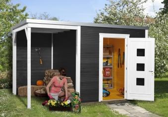 weka design gartenhaus quadro 2 gr 2 anthrazit 460x310cm. Black Bedroom Furniture Sets. Home Design Ideas