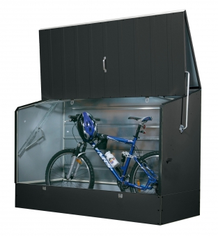 fahrradbox fahrradgarage trimetals metall 196x89x133cm anthrazit. Black Bedroom Furniture Sets. Home Design Ideas