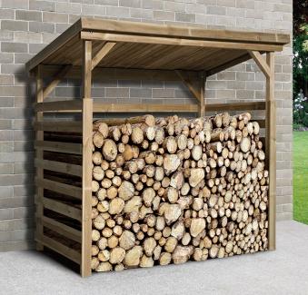 unterstellplatz kaminholzregal weka holz 274x131cm kdi. Black Bedroom Furniture Sets. Home Design Ideas