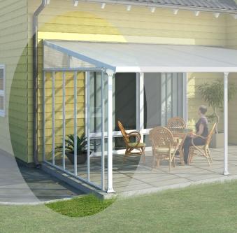 seitenwand w 4 f r alu terrassen berdachung b 387cm wei. Black Bedroom Furniture Sets. Home Design Ideas